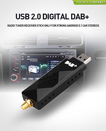 XTRONS DAB + USB 2.0 Digital DAB + Récepteur Tuner Radio Uniquement pour l'autoradio Android Xtrons