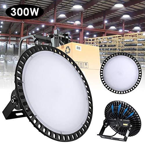 HXFYJ 300W LED UFO High Low Bucht-Licht, kühles Weiß Werkstatt Beleuchtung SMD 2835 IP65 Gewerbegebiet Beleuchtungskörper 24000Lm Industrielle Lampe für Factory Shop Industrie Garage,1 Pack