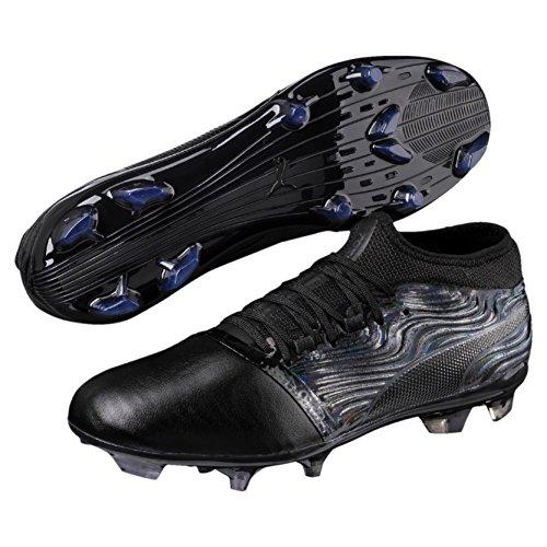 PUMA One 18.2 FG voetbalschoen Zwart Zwart/Asfalt - Maat 8.5