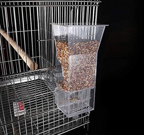 BABYS'q Distributeur de graines pour Oiseaux pour Accessoires de Cage, systèmes de Recherche de Nourriture pour Oiseaux domestiques