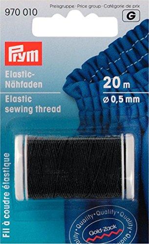 Prym Nähgarn elastisch 0,5mm 20m schwarz