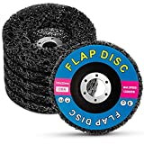 5 Pack Strip Discs Stripping Wheel for 4-1/2'' and 4'' Angle Grinders Clean and Remove Paint, Rust Welds, Oxidation, Blue (4' x 5/8')