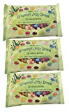 Trader Joe's Gourmet Jelly Beans 18 Natural Color & Flavors 3 Bags - 15 oz each