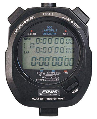 Finis 3X100M Stopwatch - Cronómetro para natación (100 entradas de Memoria)