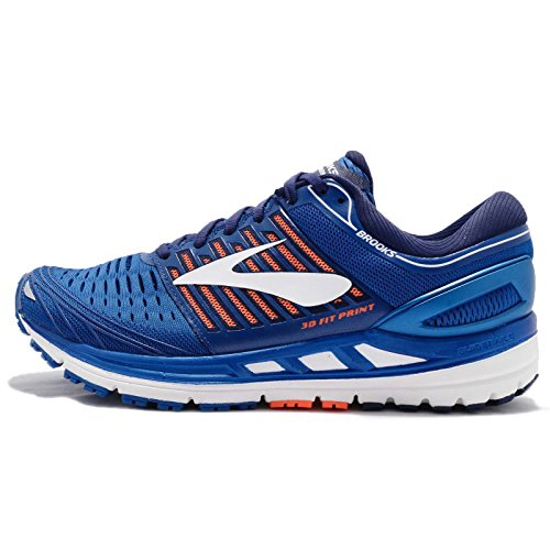 Brooks Transcend 5, Zapatillas de Running para Hombre, Azul (Blue/Orange/White 1d463), 45 EU