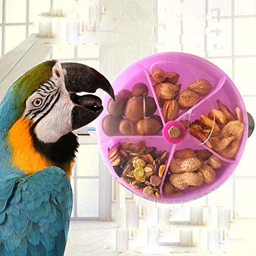 Hypeety Bird Parrot Foraging Toy Creative Seed Food Ball Rotate Wheel Intelligence Growth Training Toy for Parrot Parakeet Cockatiel Conure Lovebird