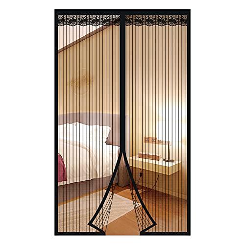 Zanzariera Magnetica per Porte Anti Zanzare Calamite Tenda Anti Zanzare Insetti Facile da installare per ideale per porte da balcone, cantine, terrazze (Nero, 140 * 240cm)