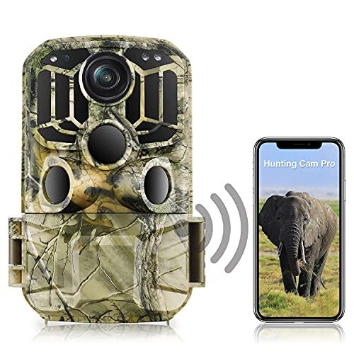 WiFi Wildlife Camera 20MP 1296P Trail Camera 850nm Hunting Camera with 0.3...