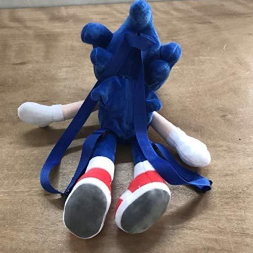 WYSTLDR Juguete de Peluche Super Sonic Super Sonic, muñeca de Erizo Tarsnak, Almohada de muñeca de Dibujos Animados, Mochila sónica de Regalo de cumpleaños y Vacaciones de 45 cm