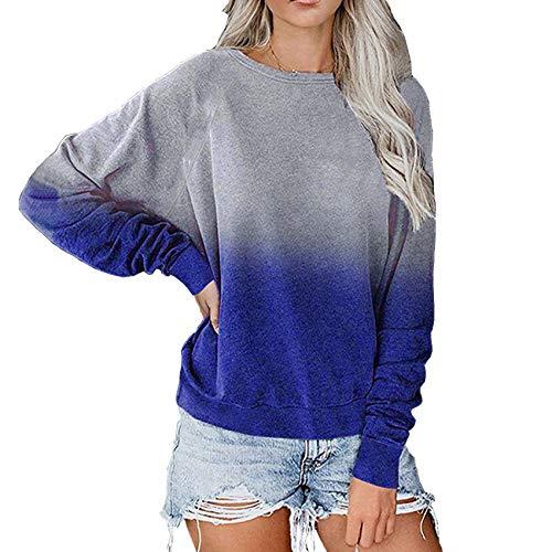 x8jdieu3 Sweater Jacke Round Neck Printing Stitching Herbst Und Winter Farbverlauf...