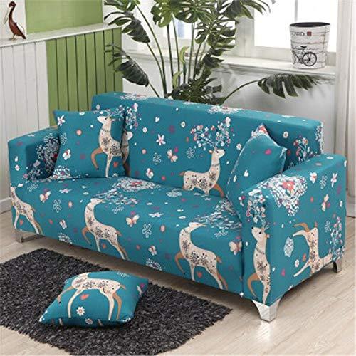 WXQY Funda de sofá elástica para salón, Funda de sofá elástica, Funda de sofá Horizontal, Funda de sillón de Esquina en Forma de L, Funda de sofá A6 1 Plaza