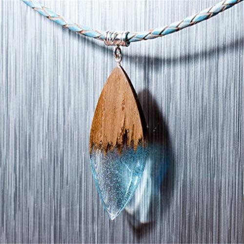 LOSOUL Collana in legno di resina, ciondolo magico fatto a mano, regalo perfetto per la mamma