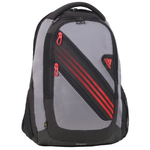 adidas Climacool Speed Iii Backpack, Tech Grey/Vivid Red, 20x14x9-Inch