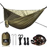 NATUREFUN Hamac Ultra-léger de Voyage Camping | 300 kg Capacité de Charge,(290 x 140 cm) Respirante, Nylon à Parachute à séchage Rapide |Accessoires complets, Faciles à Installer