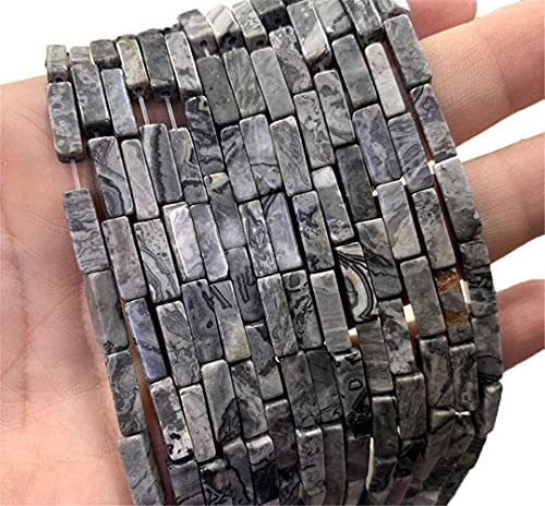 4 13 Mm Natural Cuadrado Cilindro Piedra Perlas Lapislázuli Amatista Labradorita Para Hacer Joyería Diy Pulsera Collar Mapa Piedra 4x13mm 29pcs