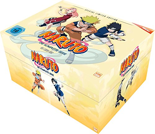 Naruto Gesamt-Box (Special Limited Edition mit 8 Postkarten & Poster) (34 Disc Set)