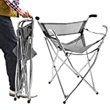Freshore Walking Stick Chair Seat - Folding Camping Cane Portable Stool Heavy Duty Aids for Seniors ( L Size Grey)