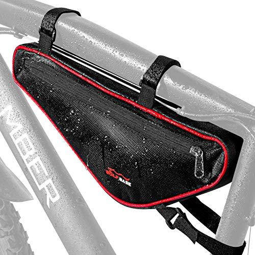 Koopan Fahrrad Dreiecktasche [Wasserdicht] - Fahrradtasche Rahmen, Triangeltasche ideal für Fahrradschloss, Werkzeug, Regenjacke etc - MTB Tasche, Fahrrad Rahmentasche