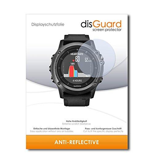 disGuard Displayschutzfolie für Garmin Fenix 3 Saphir HR [2 Stück] Anti-Reflex, MATT, Entspiegelnd, Extrem Kratzfest, Anti-Fingerabdruck - Displayschutz, Schutzfolie, Panzerfolie