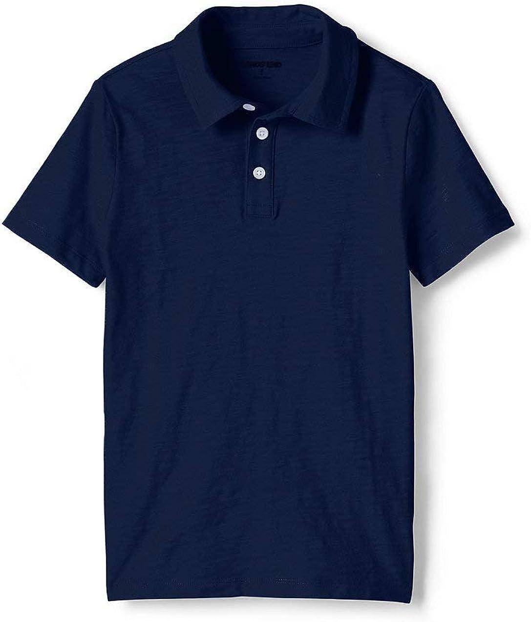 Lands' End Boys Solid Slub Polo Shirt
