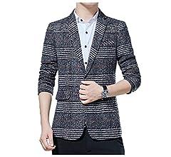 Winwinus Mens 2 Piece Set Plus Size Premium Business Jackets Suit