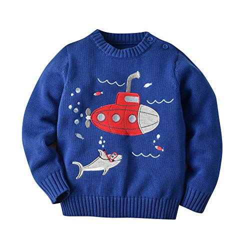 Aden Bébé Filles Garçons Chandail Pullover Imprimé Mignon Tricoté Sweatshirt Pull Tricots