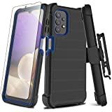 Leptech Galaxy A32 5G Case with Soft TPU Screen Protector, [Holster Series] Full Body Heavy Duty Armor Protective Phone Cover with Kickstand Belt Clip Case for Samsung Galaxy A32 5G 6.5