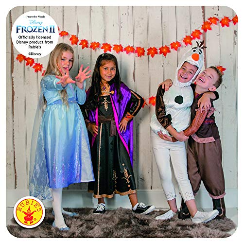 Disney- Abito Rubie's Costume Elsa Travel Frozen 2 Deluxe Bambini, Multicolore, S, 300506-3-4 Anni
