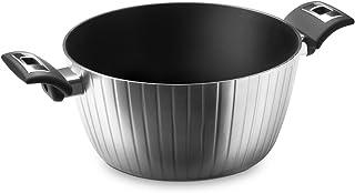 MOPITA High Tech–Olla para inducción (Aluminio Forjado, 24x 12cm), Color Negro