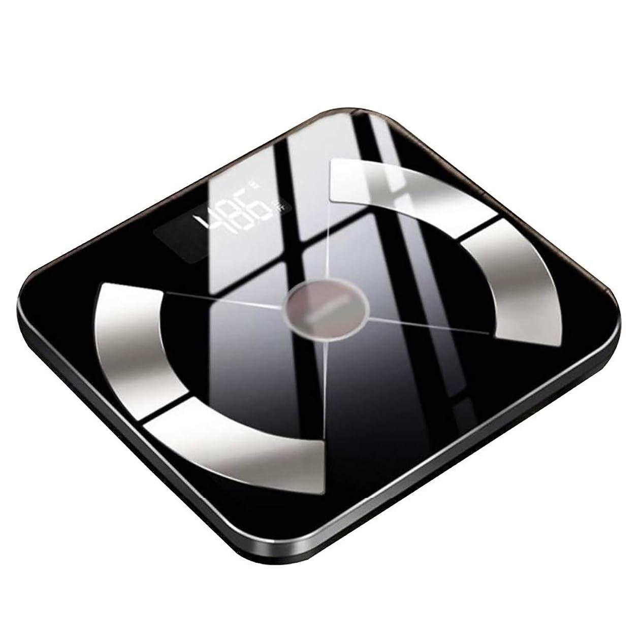 リーチ高価な印をつける体重計強化ガラス電子スケール付きLEDディスプレイホーム人体精密女性の小規模は180 Kg(26 X 26 X 2 Cm)に耐えることができます
