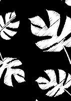 igsticker ポスター ウォールステッカー シール式ステッカー 飾り 841×1189㎜ A0 写真 フォト 壁 インテリア おしゃれ 剥がせる wall sticker poster 012477 モノトーン 葉 植物