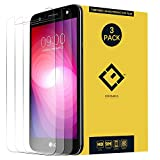 X Power 2 Screen Protector, (3 Pack) Ultra-Thin Clear Tempered Glass Protective...