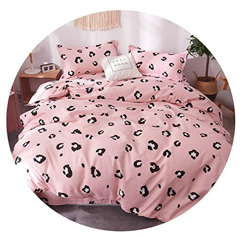 New Outpost 3 / 4Pcs / Set Cartoon-rosa Bettwäsche-Sets geometrisches Muster Bett Auskleidungen 5 Größen Leopard Bettbezug Bettlaken Kissen- Bezug-Set, SHUIMOJIANGNAN012, Twin