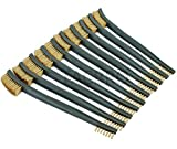 TACBRO Brass Gun Cleaning Double-Ended Brushes for Cleaning Welding Slag and Rust