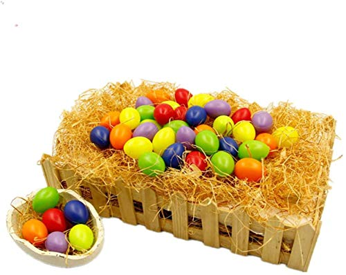 BJ-SHOP Uova di Pasqua Plastica Uova di Pasqua Colorate per Pasqua per Dipingere in Plastica per Pittura, 36pcs, 3cm