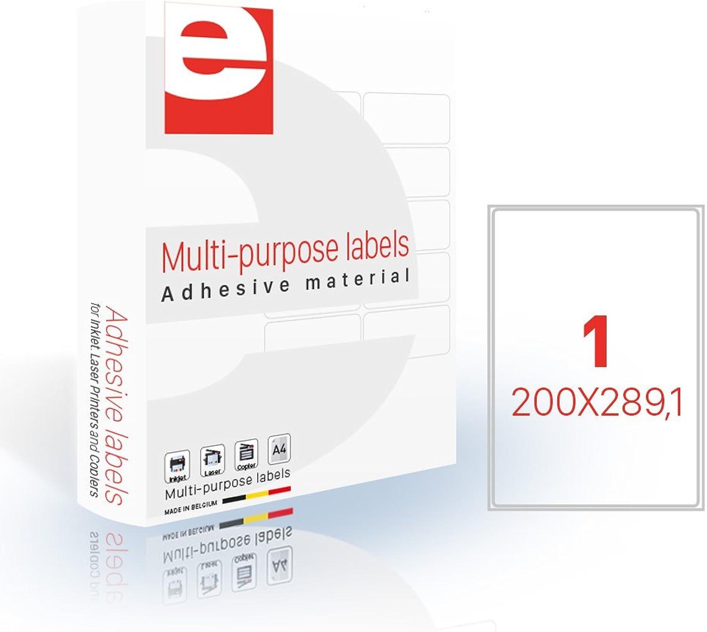 Etilascop 31800123 Etikett 100 100 100 Blatt Box A4 200 x 289,1 mm Glossy B07DBYSF2Q  | Feinbearbeitung  f86859