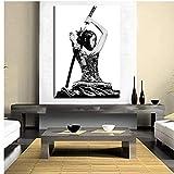 Leinwand Bilder Moderne Samurai Mädchen japanische