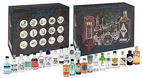 Gin Tasting Kalender Set Geschenkbox Probierset - 24x Gin Sorten in Mixcompany Tasting Box - Weihnachtsgeschenk - Geschenkset - NEU