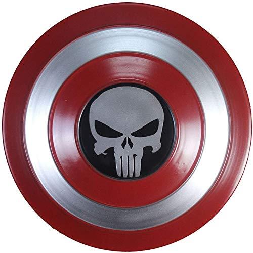 JJMUD Capitn Amrica Signo de Metal Nios 1: 1 Capitn Amrica Disfraz de Metal Muestra de Metal Amrica Escudo Cosplay Props para Adultos y nios Toy Up Disfraces Traje C, 47 cm