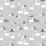 Pingianer 11,99€/m Schwan Dreiecke 100% Baumwolle