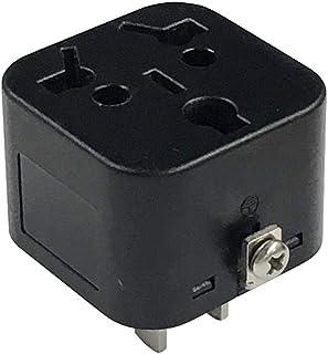 カシムラ 国内用 マルチ変換プラグ ブラック 本体電源プラグ Aプラグ, 出力コンセント B/BF / B3 / C/O / O2 / SE タイプ NTI-578