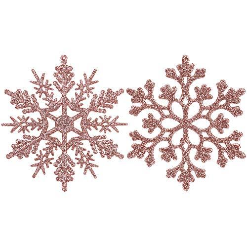 Sea Team Glitter Fiocchi di Neve in plastica Decorazione per L'Albero di Natale, 4-inch, Confezione...
