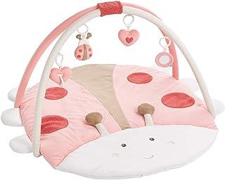 Fehn 068399 3-D-Activity-Decke Käfer / Spielbogen mit 4 abnehmbaren Spielzeugen für Babys Spiel & Spaß von Geburt an / Maße: 95x85cm