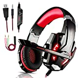 Igrome Micro Casque Gaming PS4, Casque Gamer LED Casque Audio Filaire Audio Stéréo Bass Anti-Bruit 3.5mm Jack...