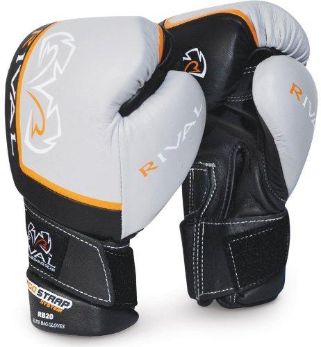 Rival Elite Bag Gloves, Black, 12-Ounce