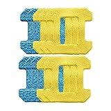 Timagebreze Almohadillas de Fregona para Frotar para Hobot 298 Robot de Limpieza de Ventanas Accesorios de Robot Trapo Material de Microfibra Premium Limpieza en HúMedo + Seco