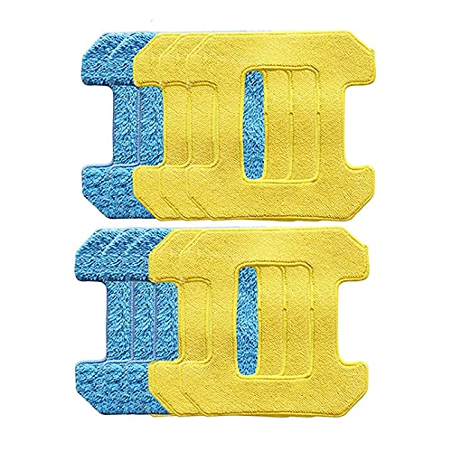 ALIKEE Rubbing Mop Pads for Hobot 298 Window Cleaning Robot Robot Accessories Rag Premium Microfiber Material Wet Cleaning+Dry
