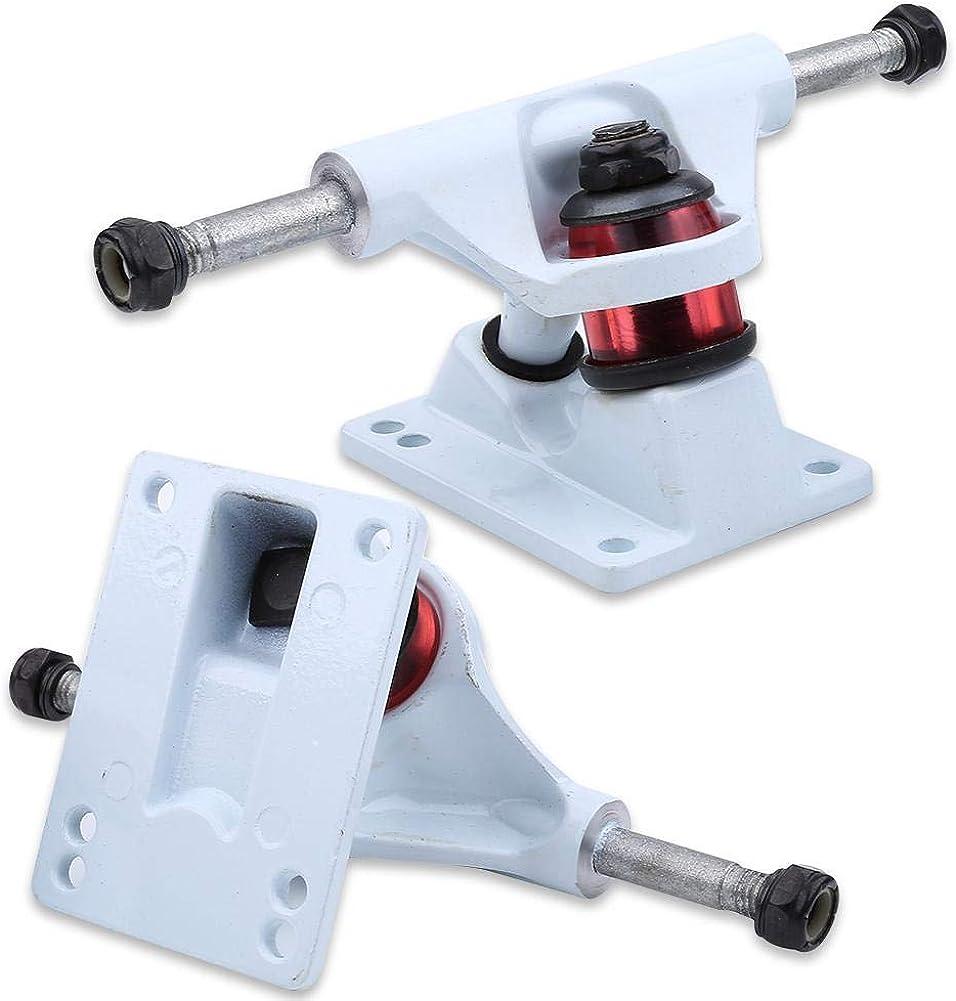 Randomly Color of PU Pad Fictory Skateboard Trucks 2pcs Skateboard Trucks Combo 3.25inch Wheels ABEC Longboard Skatebaord Accessory