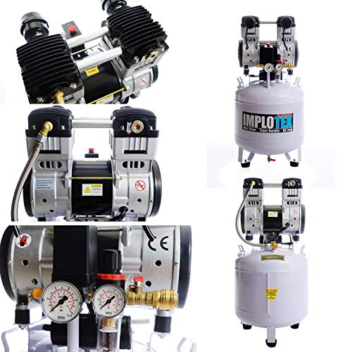 IMPLOTEX 1500W 2PS Flüsterkompressor 50l - 2