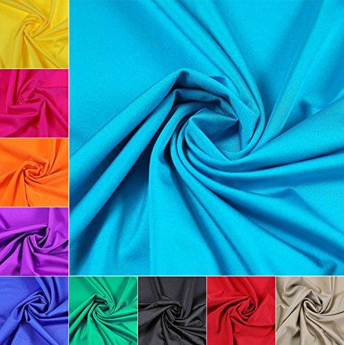 maDDma 1m Stretch-Stoff für Tanz-, Sport- und Bademoden 152cm breit, Meterware, Farbwahl, Farbe:türkis